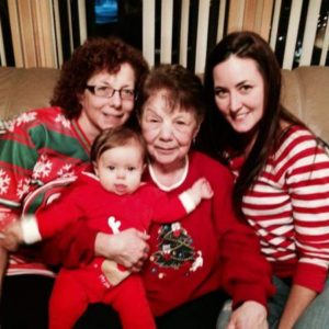 4 generations of murray girls kims grandmother mother kim and niece maura