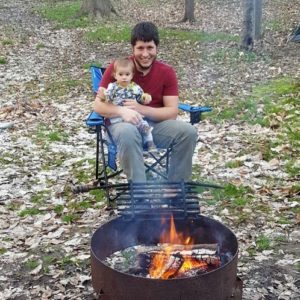 darrin on a camping trip