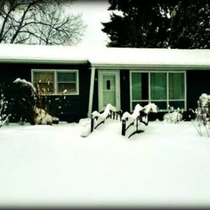 front yard in snow 2