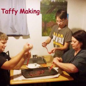 making taffy