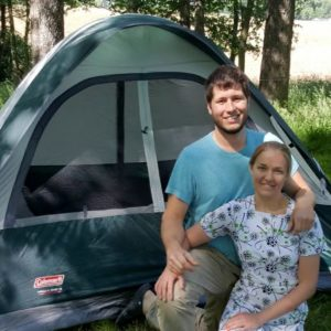 melanie and darrin camping