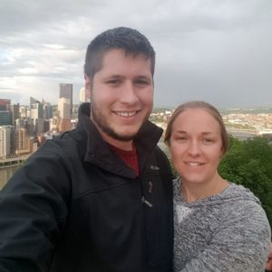 melanie and darrin enjoying and evening in pittsburgh