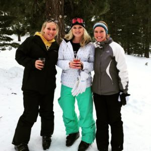 Big Bear skiing with friends