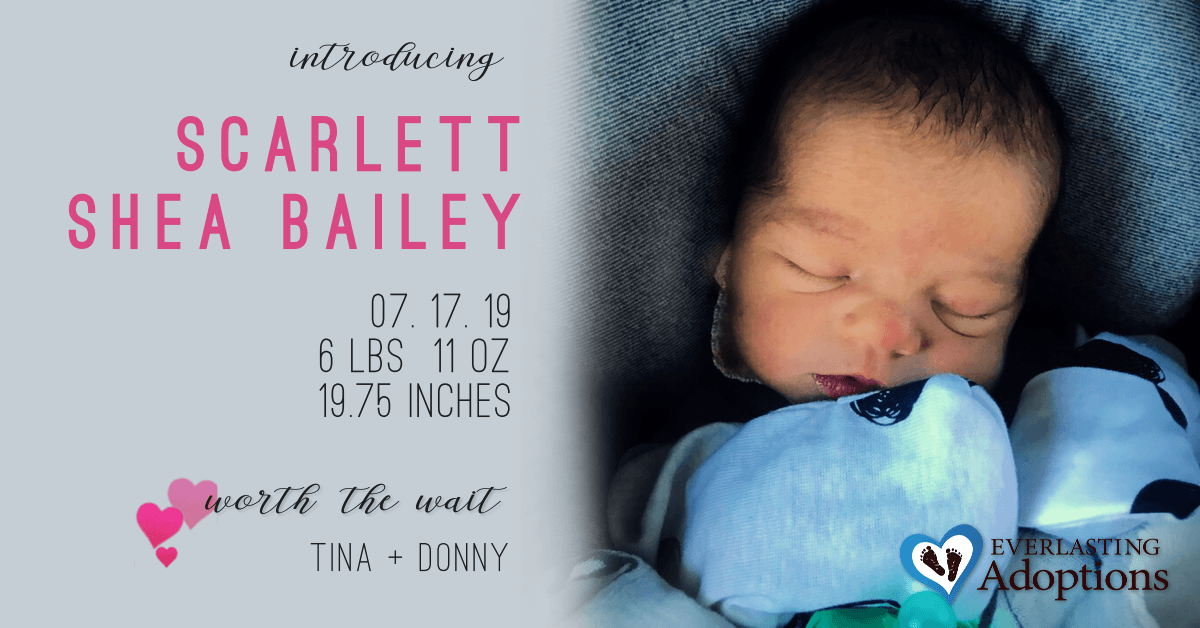 New Birth Announcement-Tina & Donny